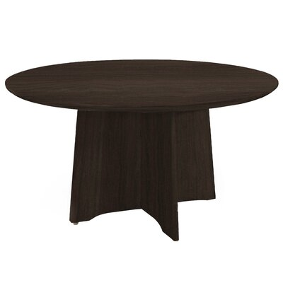 Medina Series Circular 29.5H x 48W x 48L Conference Table Finish: Mocha