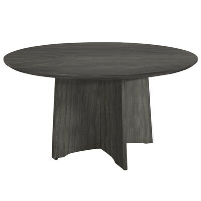 Medina Series Circular 29.5H x 48W x 48L Conference Table Finish: Gray Steel