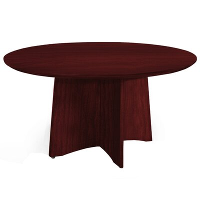 Medina Series 4 Circular Conference Table Finish: Mahogany