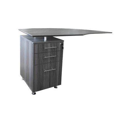 Medina Series 29.5 H x 63 W Left Desk Return Finish: Gray Steel