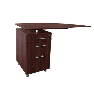 Medina Series 29.5 H x 63 W Left Desk Return Finish: Mahogany