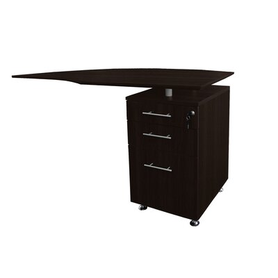 Medina Series 29.5 H x 63 W Right Desk Return Finish: Mocha