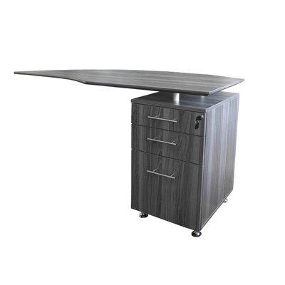 Medina Series 29.5 H x 63 W Right Desk Return Finish: Gray Steel