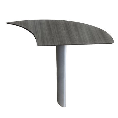 Medina Series 29.5 H x 47 W Desk Peninsula Finish: Gray Steel