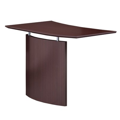 Medina Series 29.5 H x 48 W Desk Bridge Finish: Mahogany