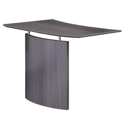 Medina Series 29.5 H x 48 W Desk Bridge Finish: Gray Steel