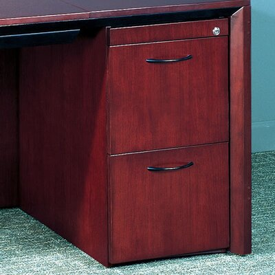 Corsica Series 27 H x 15.25 W Desk File Pedestal Finish: Mahogany
