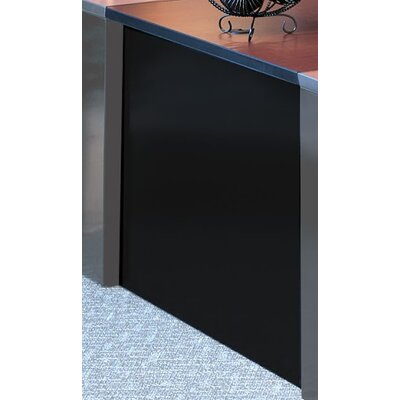 29 H x 42 W Desk Bridge Base Finish: Black, Top Finish: Crown Cherry / Black