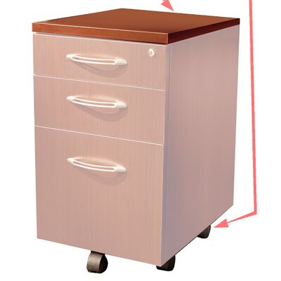 Aberdeen Desk File Pedestal Finish: Cherry