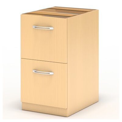 Aberdeen 27.5 H x 15.25 W Desk File Pedestal Finish: Maple