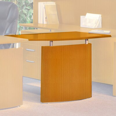 Napoli 29.5 H x 48 W Desk Bridge Finish: Golden Cherry Veneer, Orientation: Right