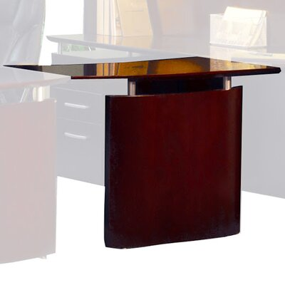 Napoli 29.5 H x 48 W Desk Bridge Finish: Mahogany Veneer, Orientation: Left