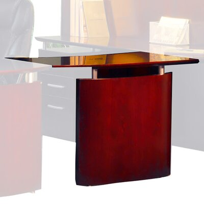 Napoli 29.5 H x 48 W Desk Bridge Finish: Sierra Cherry Veneer, Orientation: Left