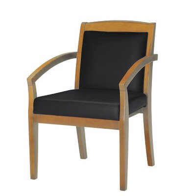 Leather Guest Chair Finish: Golden Cherry Veneer