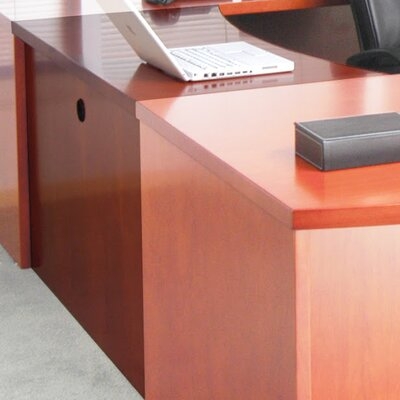 Mira Series 29.38 H x 48 W Desk Bridge Finish: Medium Cherry