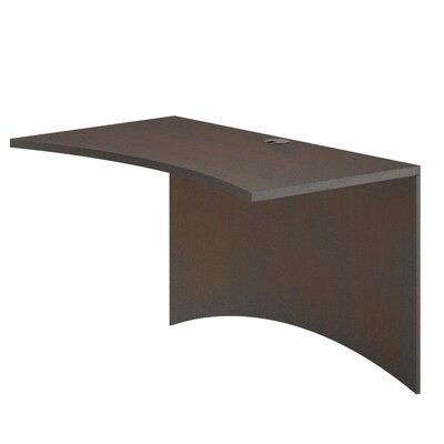 Brighton Series 29 H Desk Bridge Finish: Mocha, Size: 29 H x 36 W x 24 D