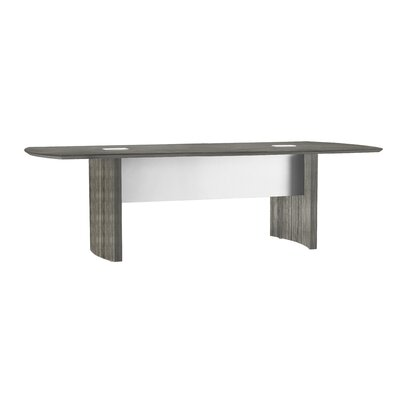 Khang Curved End Conference Table Size: 8 L, Finish: Gray Steel