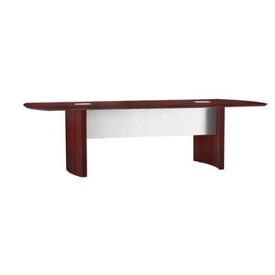 Medina Series Curved End Conference Table Finish: Mahogany, Size: 10 L