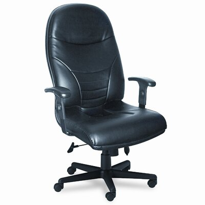 Comfort Series High-Back Leather Executive Chair with Arms Image 3832