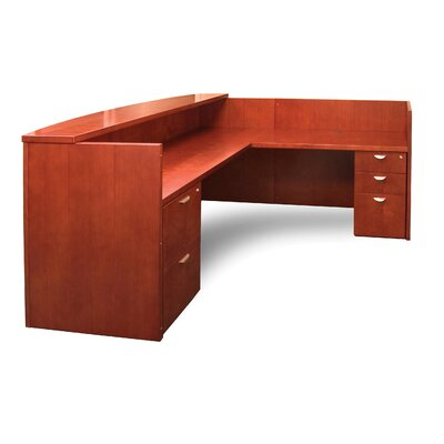 Mira Series 29.38 H x 48 W Right Desk Return Finish: Medium Cherry
