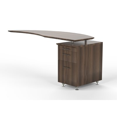 Medina 29.5 H x 63 W Desk Return Finish: Textured Brown Sugar, Orientation: Left