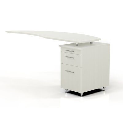Medina 29.5 H x 63 W Desk Return Finish: Textured Sea Salt, Orientation: Right