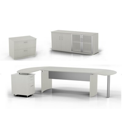 Medina Computer Desk Pedestal Low Wall Cabinet Lateral File Textured Sea Product Photo