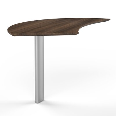 Medina 29.5 H x 47 W Desk Peninsula Finish: Textured Brown Sugar, Orientation: Right