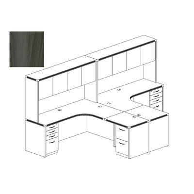 Aberdeen Series L-Shape Workstation Finish: Gray