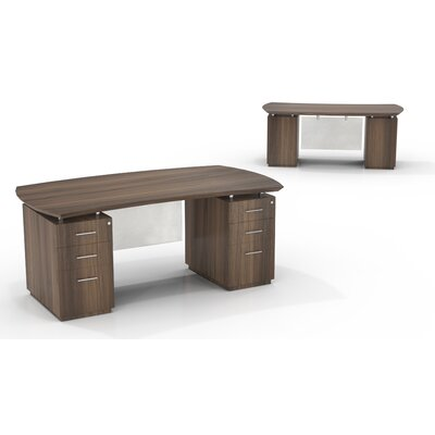 Stunning Double Pedestals Executive Desk Drawers Product Photo