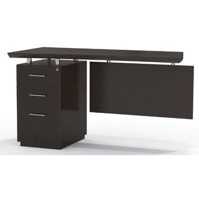 Sterling 29.5 H x 48 W Left Desk Return Finish: Textured Mocha