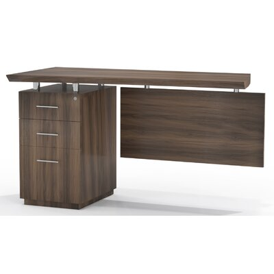 Sterling 29.5 H x 48 W Left Desk Return Finish: Textured Brown Sugar