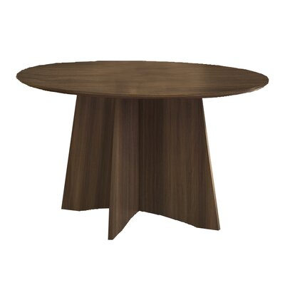 Medina Circular 29.5H x 48W x 48L Conference Table Finish: Textured Brown Sugar