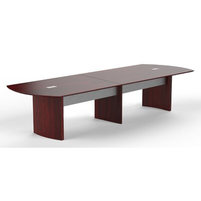 Medina Curved End Conference Table Size: 29.5 H x 144 W x 48 D, Finish: Mahogany