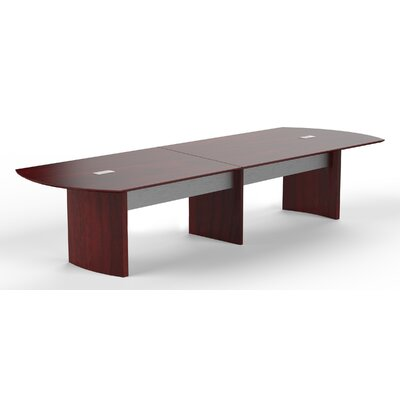Medina Curved End Conference Table Finish: Mahogany, Size: 29.5 H x 168 W x 48 D