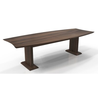 Sterling Boat Shaped Conference Table Finish: Textured Brown Sugar, Size: 29.5 H x 120 W x 48 D