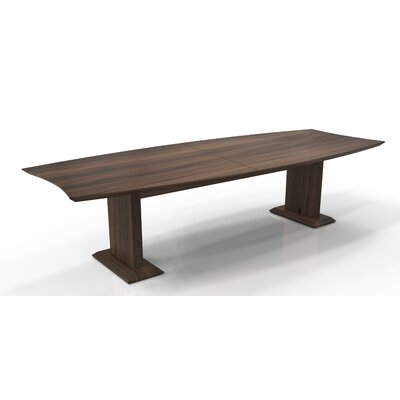 Sterling Boat Shaped Conference Table Finish: Textured Brown Sugar, Size: 29.5 H x 144 W x 48 D
