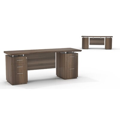 Serious Executive Desk Right Left Drawers Product Photo