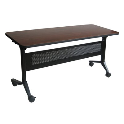 Flip-N-Go Training Table with Wheels Tabletop Finish: Mahogany, Size: 29 H x 60 W x 24 D