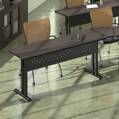 Meeting Plus 6 Rectangular Conference Table Finish: Black / Cherry / Black