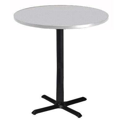 Bistro Bar Height Pub Table Tabletop Size: 42 W x 42 D, Finish: Ice Gray