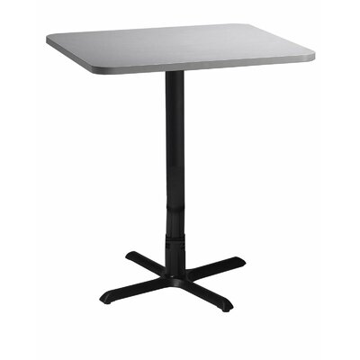 Bistro Pub Table Tabletop Size: 30 W x 30 D, Finish: Ice Gray