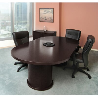 Mira Racetrack/Oval 29H x 48W x 96L Conference Table Finish: Espresso