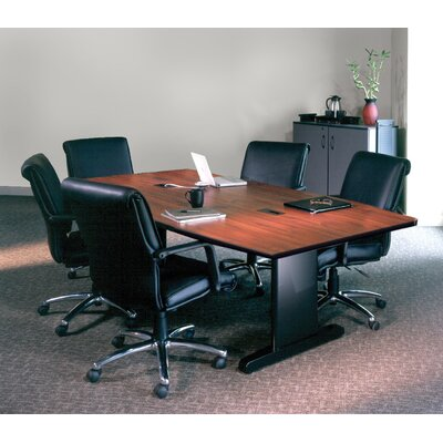 CSII Rectangular Conference Table Top Finish: Windsor Mahogany / Black, Size: 29 H x 42 W x 84 D