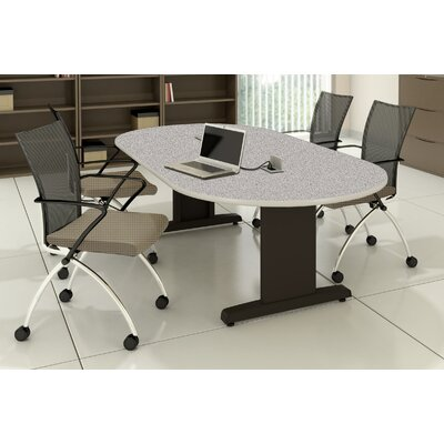 CSII Racetrack Conference Table Top Finish: Gray Nebula / Ice Gray, Size: 29 H x 42 W x 84 D