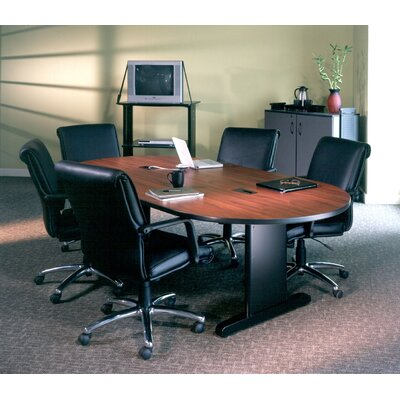 CSII Racetrack Conference Table Top Finish: Windsor Mahogany / Black, Size: 29 H x 42 W x 84 D