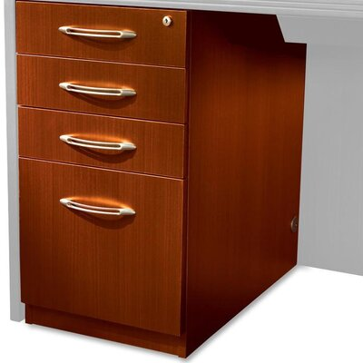 27.5 H x 15.25 W Desk File Pedestal Finish: Cherry