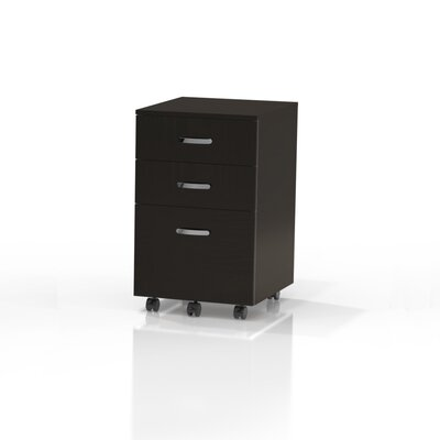Soho 25.5 H x 15.75 W Desk File Pedestal Finish: Black