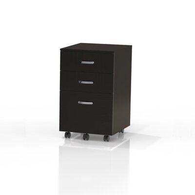 Soho 25.5 H x 15.75 W Desk File Pedestal Finish: Black