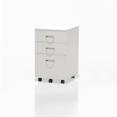 Soho 25.5 H x 15.75 W Desk File Pedestal Finish: White